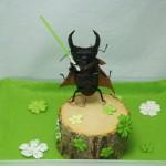 【花と森の戦士 オオ・ク・ワガタ】クワカブジオラマ写真コンテスト:エントリーNO12